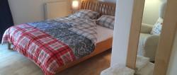 Bett im Zimmer Fachwerk